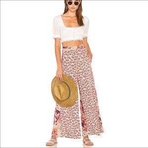 NWT Free People in The Mix Printed Pull on Pant